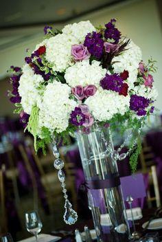 mardi gras centerpiece ideas | white bridal bouquet Valerie's bouquet featured peonies freesia