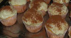 Tiramisu muffin recept Cupcakes, Cake Cookies, Pasta Cake, Alcohol Cake, Hungarian Recipes, Hungarian Food, Dessert Cake Recipes, Food Cakes, Muffin Recipes