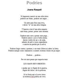 Joana Raspall. Corprenedora i compromesa Daisies, Tatoos, Texts, Poems, Thoughts, Quotes, Christmas, School, Inspiring Quotes
