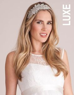 Add a touch of vintage inspired sparkle to your special day with our Ivy Bridal Hair Band from the LUXE Collection. Whether you're planning a glamorous up-do, a flowing loose style, or opting for a veil; this piece provides the perfect final flourish for your look. The slim ribbon-covered band sits comfortably in your hair, while the beautiful hand beaded embellishment to one side sparkles and shines at it catches the light.