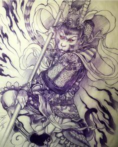 ee85920a50735 Dessin Tattoo, Tattoo Drawings, Tattoo Sketches, Rey Mono, Monkey Tattoos,  Full