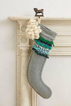 ~ Pom-Stitched Stocking | anthropologie.com ~