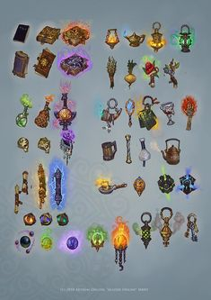 Magic Items by Hellstern game ui gui icons equipment gear magic item | Create your own roleplaying game material w/ RPG Bard: www.rpgbard.com | Writing inspiration for Dungeons and Dragons DND D&D Pathfinder PFRPG Warhammer 40k Star Wars Shadowrun Call of Cthulhu Lord of the Rings LoTR + d20 fantasy science fiction scifi horror design | Not Trusty Sword art: click artwork for source