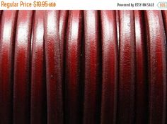 """On Sale NOW 25%OFF 24"""" Bordeaux 10x6mm Licorice Leather Cord by LRPJewelryBox - jewelry supplies - jewelry supply - jewelry making"""