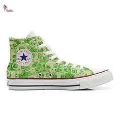 Make Your Shoes Converse Customized Adulte - chaussures coutume (produit artisanal) Orange Skull size 34 EU mPaTEeh