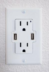 usb outlet  Bedroom, kitchen & tv room