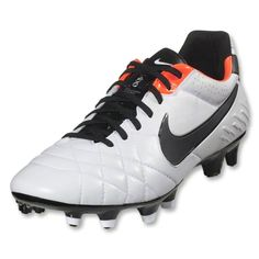buy online 0c7af 6867e Nike go for clean and contemporary on their lead Tiempo colourway. for  Check out the Nike Tiempo Legend IV -White   Total Crimson   Black, here!