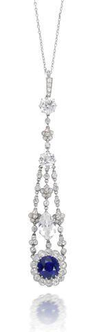 A belle époque sapphire and diamond pendant,c.1910 /Bonhams
