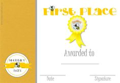 First Place Certificate Printable Certificate Of Excellence #excellence #certificatetemplate .