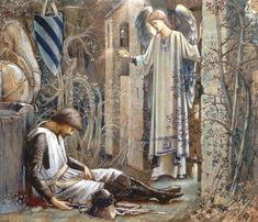 The Earthly Paradise (Sir Lancelot at the Chapel of the Holy Grail). By Edward Burne-Jones. 1890's. (Wikimedia Commons) Read more: http://www.ancient-origins.net/myths-legends-europe/arthurian-tale-elaine-astolat-lady-shalott-003151#ixzz3bfzhqfE4 Follow us: @ancientorigins on Twitter | ancientoriginsweb on Facebook