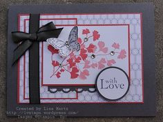 Papaya Collage stamp set. by Lisa Martz @ Get Your Stamp On.  CCREW0612DF With Love