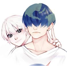 See more 'Earth-chan' images on Know Your Meme! Anime Couples Manga, Cute Anime Couples, Anime Manga, Anime Guys, Anime Art, Manga Girl, Character Drawing, Character Design, Desenhos Halloween