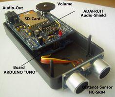 Talking distance sensor