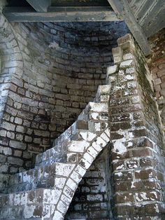 Cockspur Lighthouse stairs, Tybee Island, Georgia, US