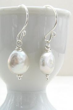Gracie Jewellery _ Freshwater Coin Pearls w/ Sterling Silver
