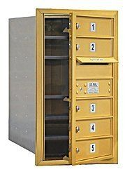 4C Horizontal Mailbox (Includes Master Commercial Lock) - 7 Door High Unit (27 Inches) - Single Column - 5 MB1 Doors - Gold - Front Loading - Private Access by Salsbury Industries. $301.71. 4C Horizontal Mailbox (Includes Master Commercial Lock) - 7 Door High Unit (27 Inches) - Single Column - 5 MB1 Doors - Gold - Front Loading - Private Access - Salsbury Industries - 820996413666