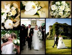 Northbrook Park Hampshire wedding flower ideas.  Beautiful lavish bridal shower bouquet of roses, calla lilies and opulent phalaenopsis orchids, with accent ivory and almost black centres blooms of Star Of Bethlehem.    http://thefineflowerscompany.co.uk/blog/index.php/wedding-flowers-florist-photos-hampshire-bw/