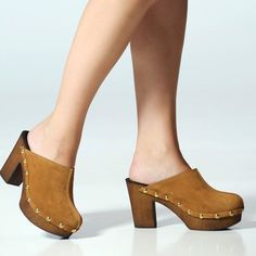 7 Dials Shoes Wildin Chestnut Italian Suede Clog