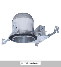 """6"""" Airtight IC Housing with GU24 Base Socket    Airtight IC Housing for insulated ceilings   For use with LED Retrofit (CREE #LR6) or 27W MAX self ballasted 120V CFL lamp (GU24 base)   Supplied with captive bar hangers for 24"""" joist spacing   Includes gasket, meets CA Title 24 code   Floating socket (GU24 base type)  Regular price: $19.99  Sale price: $11.50"""