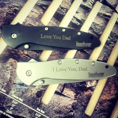 Happy Fathers Day from www.Kershaw-Knives.net ! Engraved knives make perfect and USEFUL gifts for Dads! He will love it!