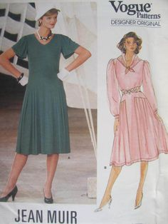 See Sally Sew-Patterns For Less - Flared Fitted Jean Muir Dress Designer Original Vogue 1414 Pattern Sz 12, $15.00 (http://stores.seesallysew.com/flared-fitted-jean-muir-dress-designer-original-vogue-1414-pattern-sz-12/)