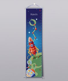 Take a look at this Rocket Landing Personalized Growth Chart by BirdRow on #zulily today!