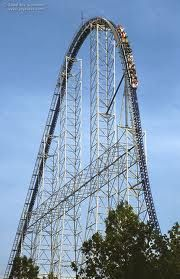 The Millenium Force Coaster at Cedar Point.