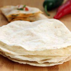 Easy 4-ingredient Gluten-free Vegan Tortillas + Quick Quesadillas #glutenfree #mexican