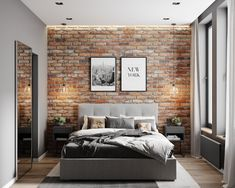 Things That You Need To Know When It Comes To Industrial Decorating You can use home interior design in your home. Even with the smallest amount of experience, you can beautify your home. Brick Interior, Interior Modern, Home Interior Design, French Interior, Minimalist Interior, Scandinavian Interior, Home Bedroom, Modern Bedroom, Bedroom Ideas