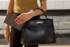 Hermes Kelly (Sellier, Box Calf, Black or Brown/Gold) [35yr]