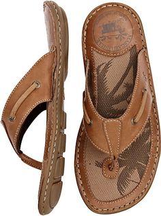 Shoes - Margaritaville Tan Flip-Flops - Men's Wearhouse