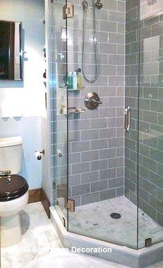 Ideas For Small Corner Shower Remodel Interior Design Bathroom Plans, Diy Bathroom Remodel, Basement Bathroom, Bathroom Ideas, Shower Ideas, Bathroom Designs, Master Bathroom, Master Shower, Bathroom Interior