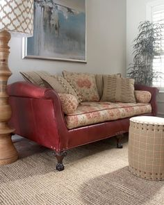 Free Craigslist leather sofa with ripped cushions? No Problem Check out this fix!
