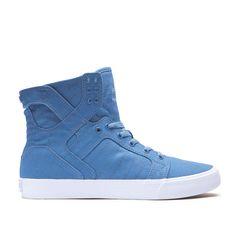SUPRA Footwear™ | Official Site | SKYTOP D | SLATE BLUE - WHITE