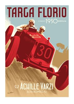 Guy Allen — Achille Varzi - Targa Florio poster
