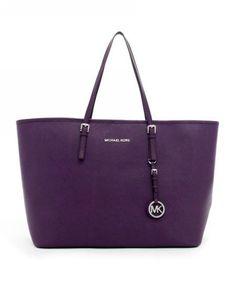 MICHAEL Michael Kors Jet Set Travel Tote Purple Saffiano Leather [MK_bags_2538] - $67.98 : 2013 Christian Louboutin Sale, Christian Louboutin Shoes