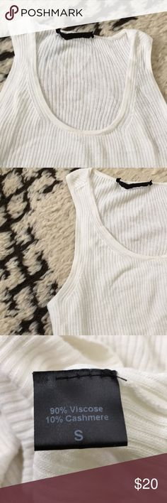 Cream Jenni Kayne ribbed Tank top White soft ribbed jenni kayne tank top. Very pretty, soft and in great shape. Selling cheap due to small mark in front. Would be great layered. Or draped under Jean jacket. Jenni Kayne Tops Tank Tops