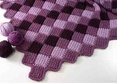 Plum Perfect Afghan. Pattern by Carolyn Christmas. Ravelry.