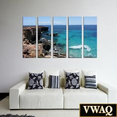 Ocean Cliff Canvas Print 5 Panel Piece Wall Art Print on Stretched Artist Grade Canvas Add a touch of class to any room with this uniquely designed framed wall art print. Item consists of full color c Framed Wall Art, Wall Decals, Wall Art Prints, Canvas Prints, Ocean Cliff, Canvas Art, Painting Canvas, Cool Walls, Gallery Wall