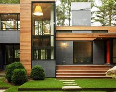 Modern Wooden House Exterior Decorations Ideas