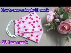 (9) How to sew a simple 3D mask | How to make a 3D face mask at home - YouTube