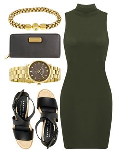 """""""Gold Details"""" by jomashop ❤ liked on Polyvore featuring Marc by Marc Jacobs, Palomitas by Paloma Barceló, gold and GREEN"""
