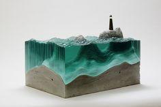 Les sculptures en verre de Ben Young benyung verre sculpture 01 870x579