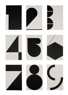 Geometric type. Creative variation on numbers