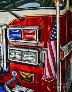 Fire Truck Drawings   Fireman - Fire Truck Photograph