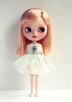 Scarlet - custom ooak Blythe with unique dress. art doll by KarolinFelix