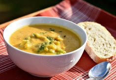 This Vegan Broccoli Cheddar Soup is perfect for those chilly Fall afternoons. A true comfort food favorite with only a fraction of the calories!