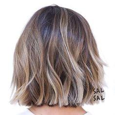 балояж на темные средние волосы