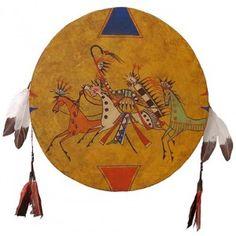 """American Indian Painted """"Horse Capture"""" Hand Drum"""