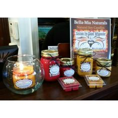 Bella Mia's Naturals Candles available at SDP #HAIR #STYLE #candels #fall #newtonnj #happyclient @salondipanache @bellamianaturals